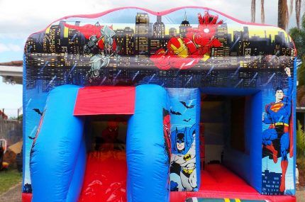 jumping castle and inflatable slide